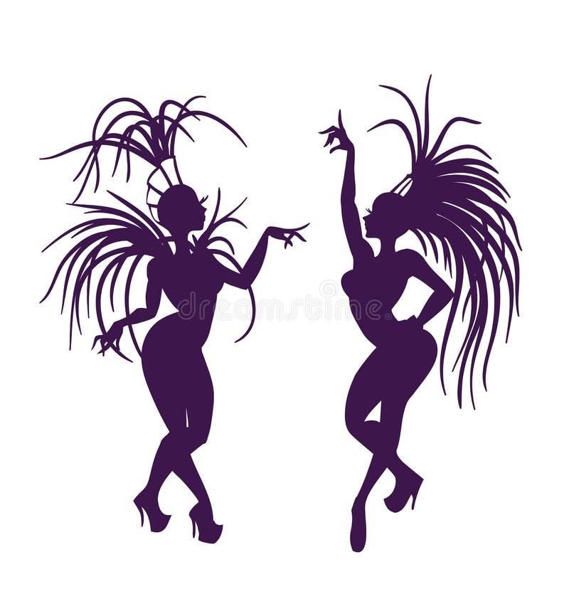 Free Silhouettes Of Attractive Samba Queen Stock Photo - 43407750