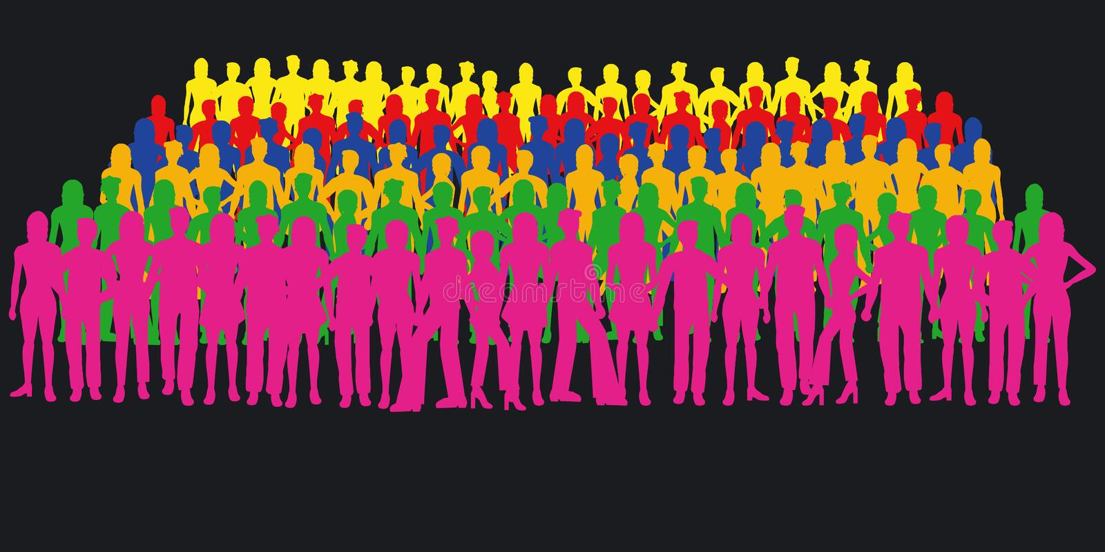 Download Silhouettes Of People Stock Photography - Image: 1104702