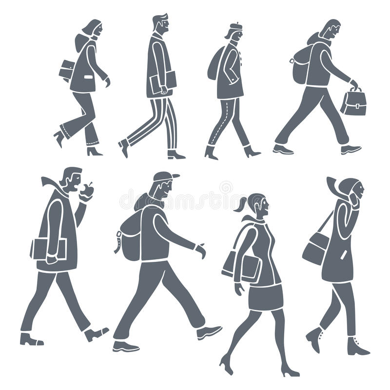 Download Silhouettes of people stock vector. Illustration of people - 24623274
