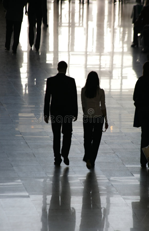 Silhouettes of people royalty free stock photography