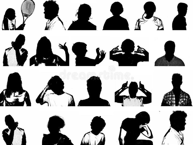 Silhouettes of People royalty free illustration