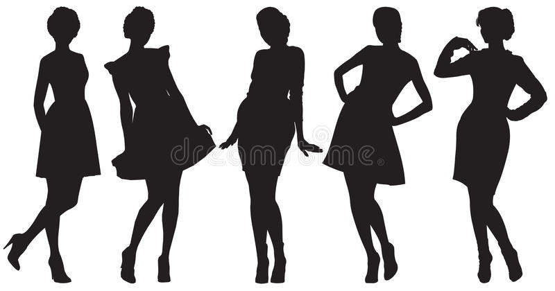 Download Silhouettes Of Pretty Women Stock Vector - Image: 24149492