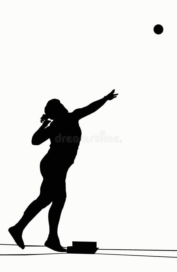 Silhouettes - projectile mis illustration de vecteur