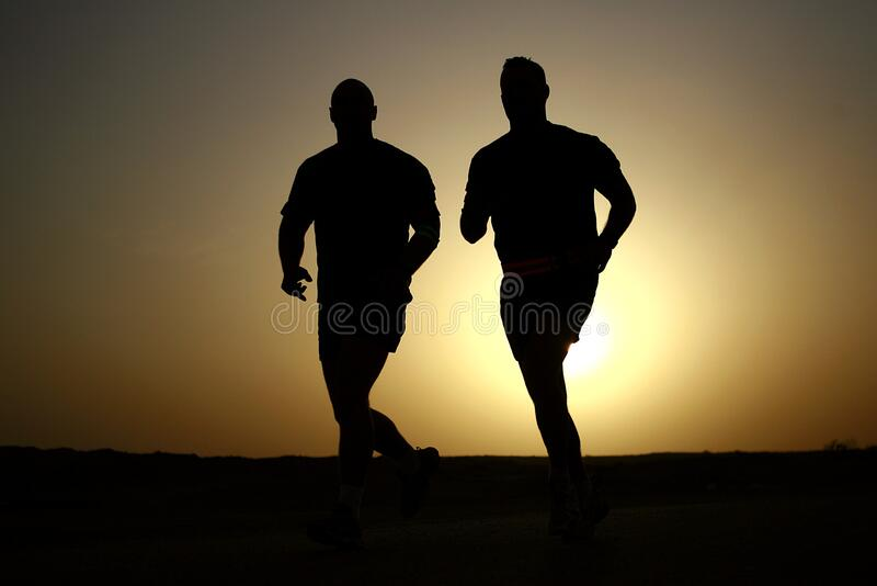 Silhouettes Of Runners Free Public Domain Cc0 Image