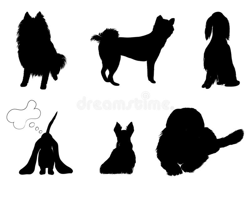 Download Silhouettes Set Breeds Of Dog Stock Vector - Image: 23556444