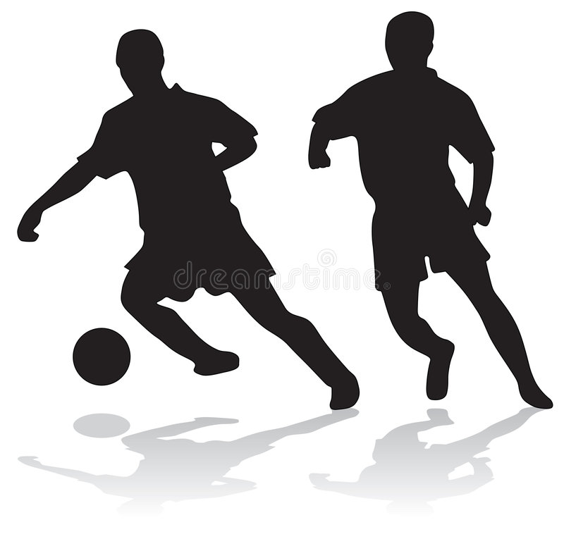 Download Silhouettes Of Soccer Players Stock Vector - Illustration of exercise, goal: 3102190