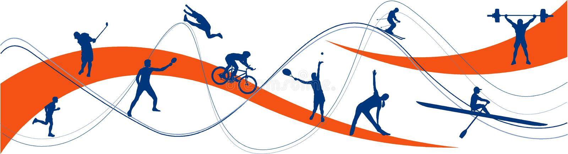 silhouettes sporten royaltyfri illustrationer