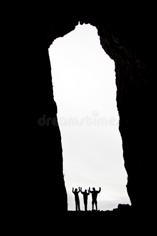 silhouettes tre royaltyfria foton