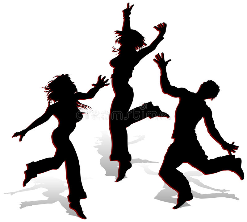 Silhouettes on white background vector illustration