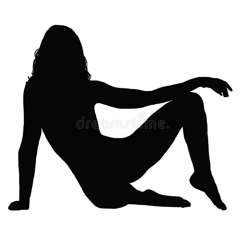 Silhouettes of woman behind. Silhouettes of women posing in the back breast collection of erotic elegance face fashion female figure fit Fitness vector illustration