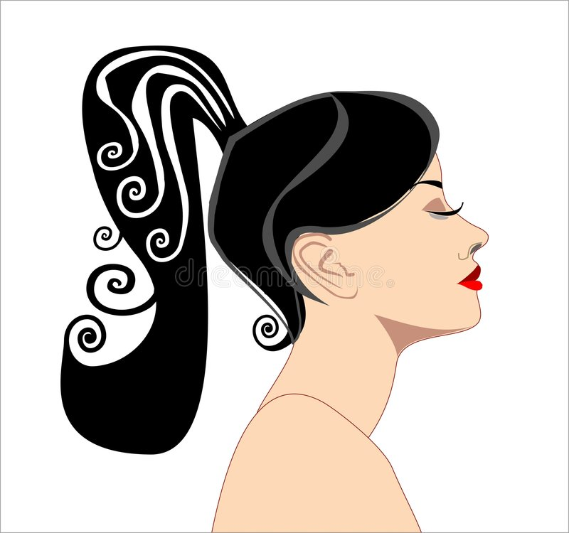 Silhouettes of women royalty free illustration