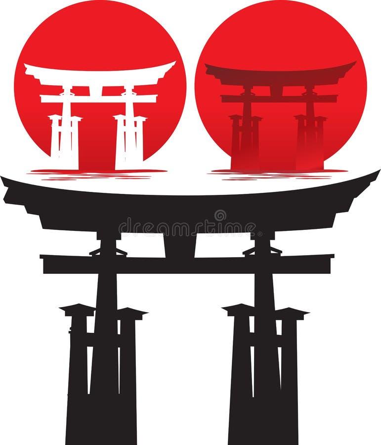 silhouettetori stock illustrationer