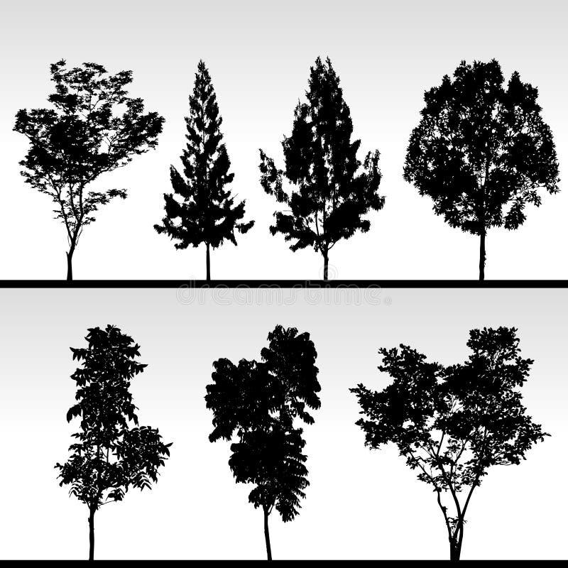 silhouettetree stock illustrationer