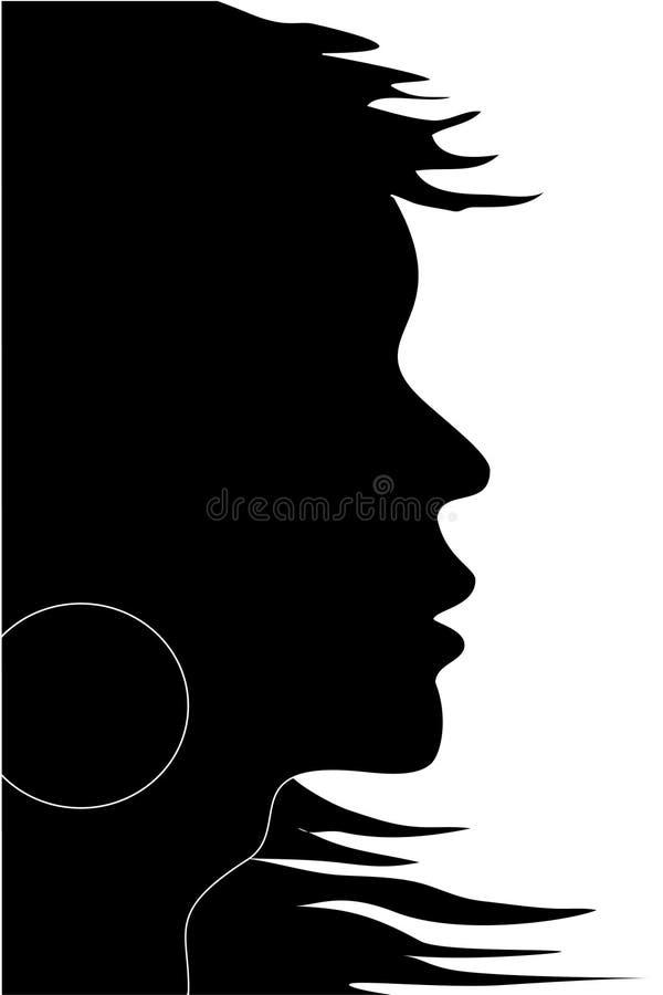 silhouettevektorkvinna stock illustrationer
