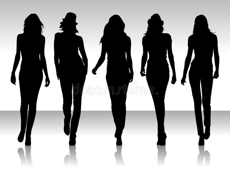 silhouettez les femmes illustration stock