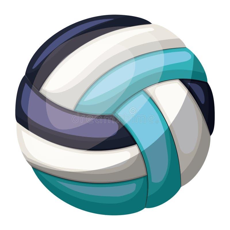 Silhouettieren Sie Farbe mit Volleyballball mit mittlerem Schatten lizenzfreie abbildung