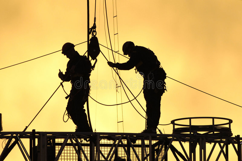 Silhouettte workers 01 stock photos