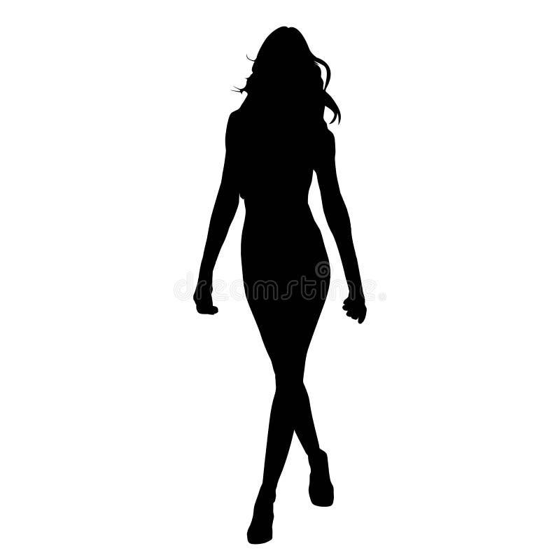 Silhouetvrouw royalty-vrije illustratie
