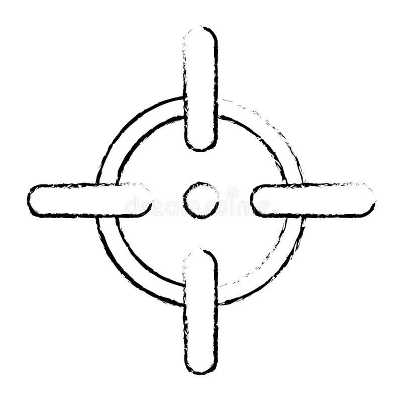 Silhoutte цели для того чтобы увольнять изображение значка оружия точно бесплатная иллюстрация