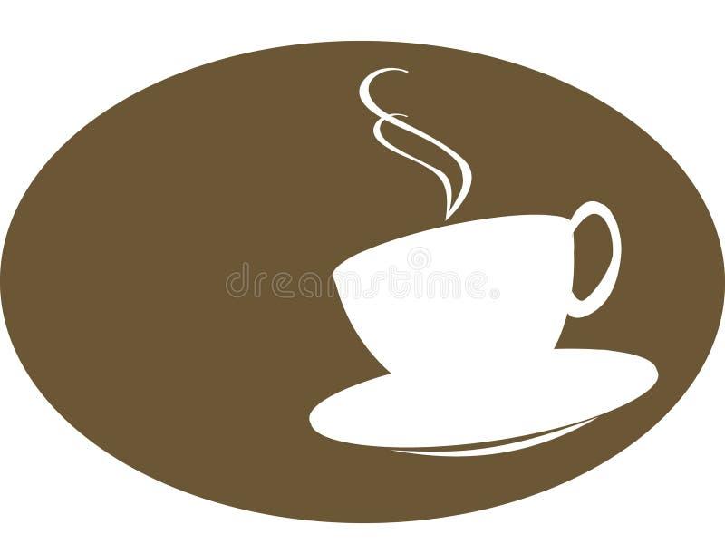 Silhoutte della tazza di tè o del caffè royalty illustrazione gratis