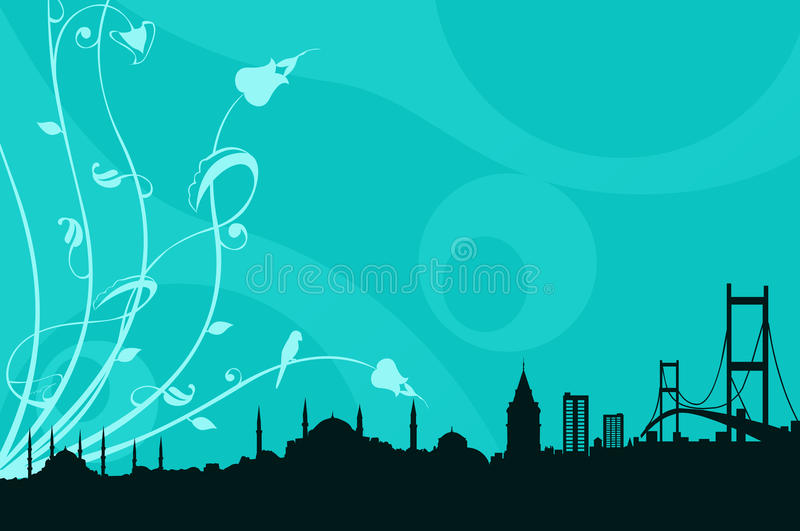 A Silhoutte From Istanbul Royalty Free Stock Photo