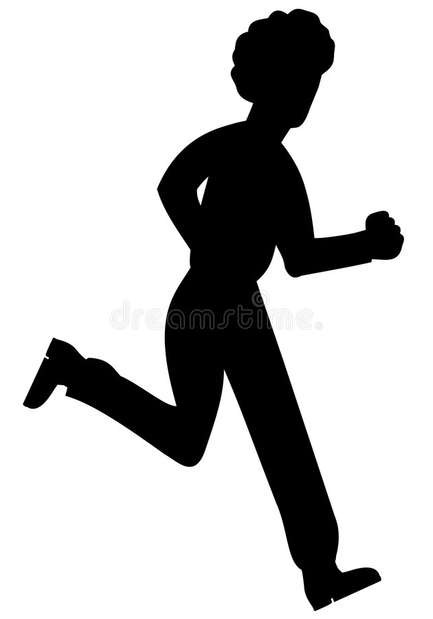 Silhoutte of running man royalty free stock photography
