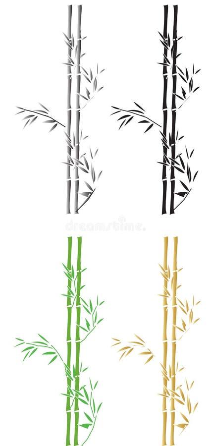 Silhouttes de bambú libre illustration