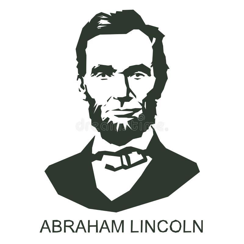 Silhueta Abraham Lincoln ilustração do vetor