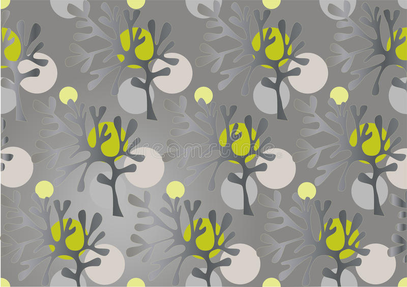 Silhueta abstrata das árvores. Background.Wallpaper ilustração do vetor