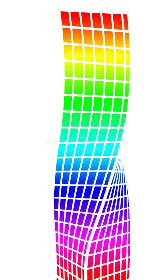 Silhueta arquitetónica e coloração fotografia de stock