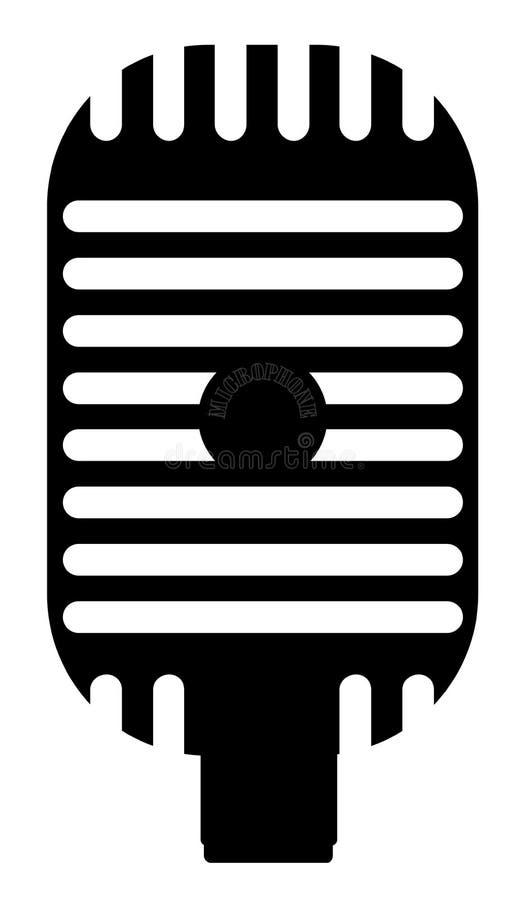 Silhueta clássica do microfone ilustração royalty free