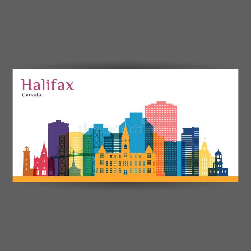 Silhueta da arquitetura da cidade de Halifax