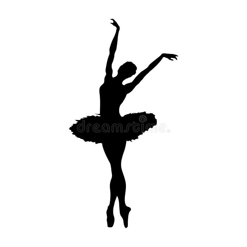 Silhueta da bailarina ilustração royalty free