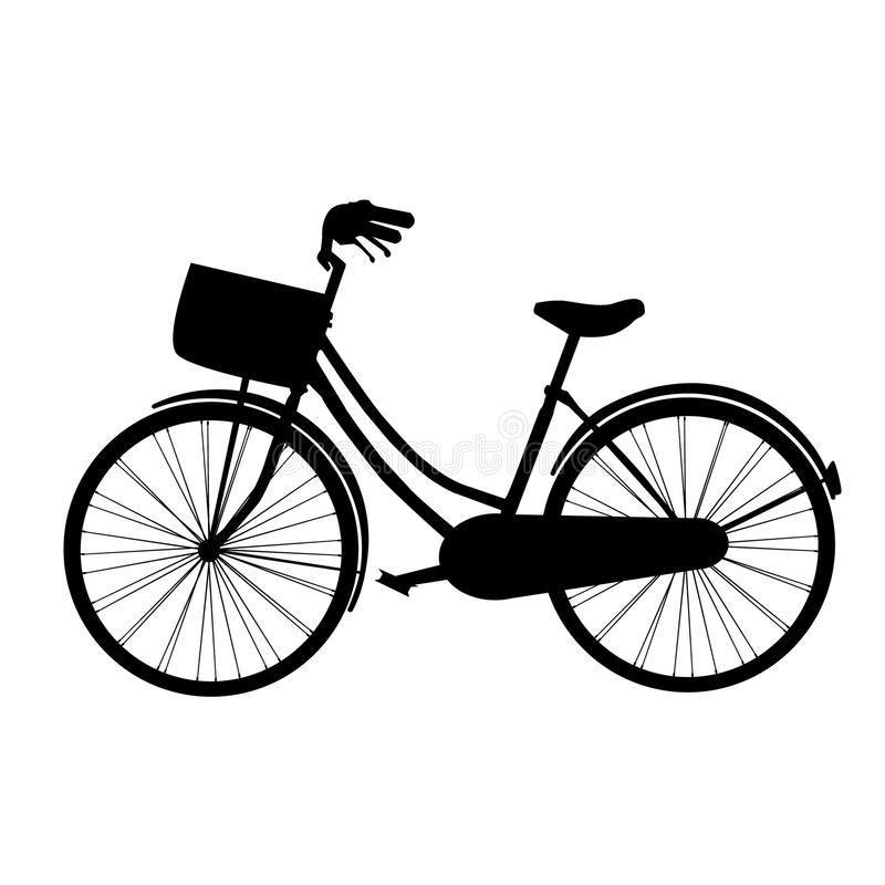 Silhueta da bicicleta fotos de stock royalty free