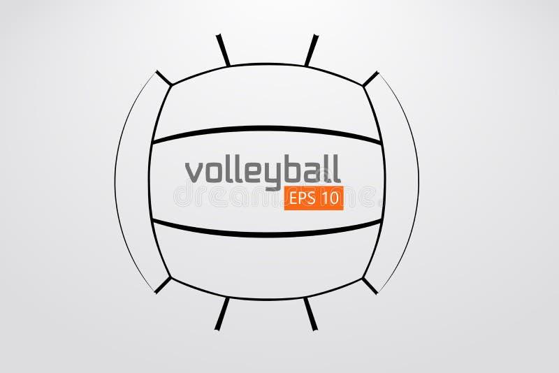 Silhueta da bola do voleibol ilustração stock