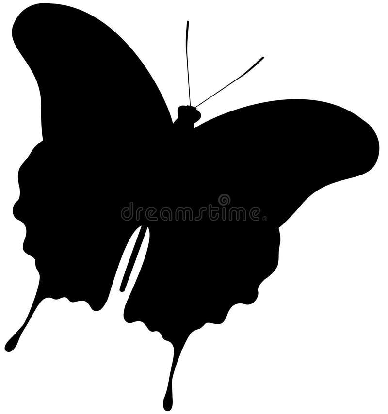 Silhueta da borboleta ilustração do vetor