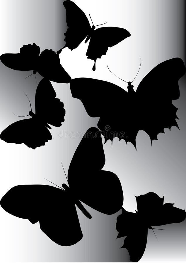 Silhueta da borboleta bonita ilustração royalty free
