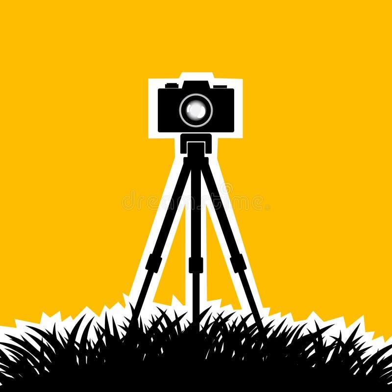 Silhueta da câmera ilustração royalty free