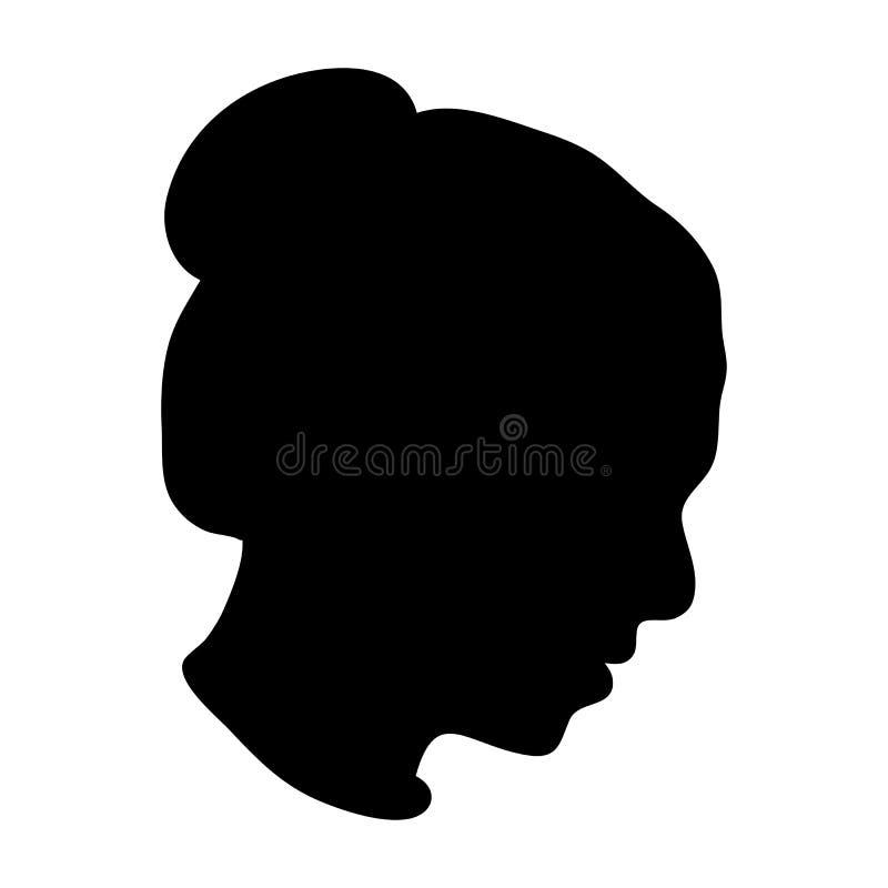 Silhueta da cabeça da mulher ilustração royalty free