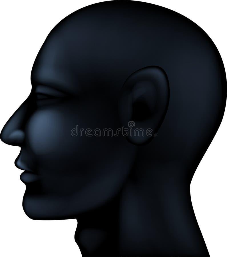 Silhueta da cabeça humana ilustração royalty free