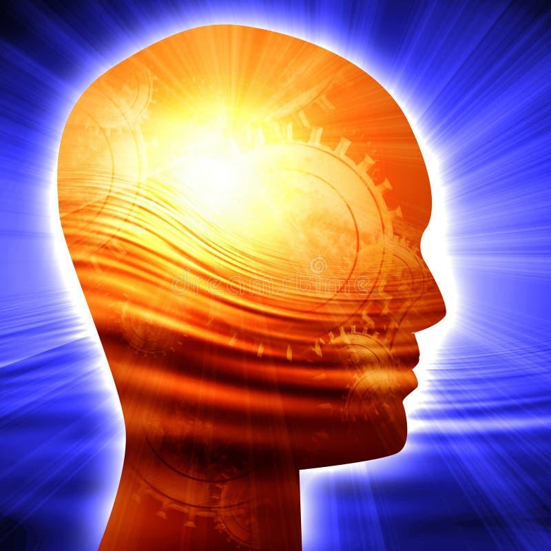 Silhueta da cabeça humana ilustração stock