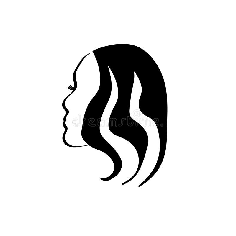 Silhueta da cara de uma mulher ilustração do vetor