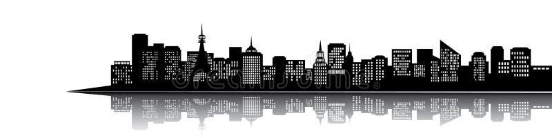 Silhueta da cidade ilustração royalty free