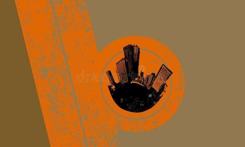 Silhueta da cidade preta com   ilustração royalty free
