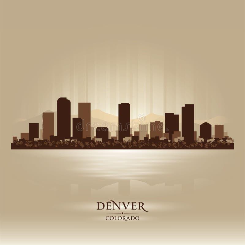 Silhueta da cidade da skyline de Denver Colorado ilustração royalty free
