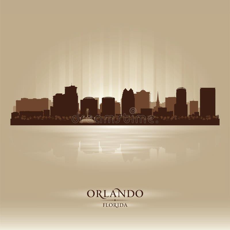 Silhueta da cidade da skyline de Orlando, Florida ilustração royalty free