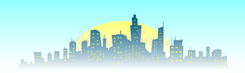 Silhueta da construção da cidade ilustração royalty free