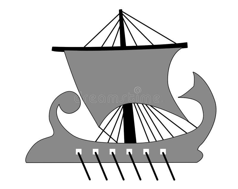 Silhueta da galera ilustração stock