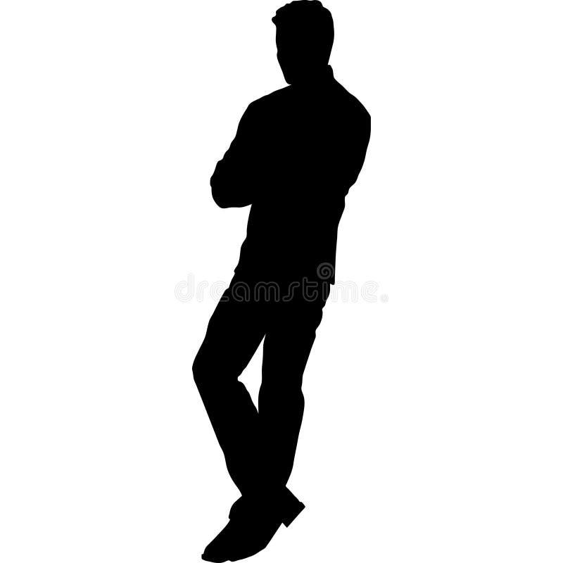 Silhueta da ilustração preto e branco do vetor do homem ilustração stock