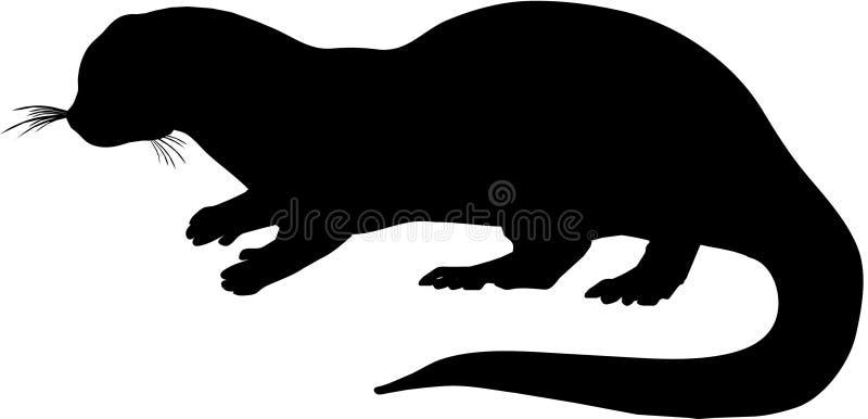 Silhueta da lontra ilustração do vetor